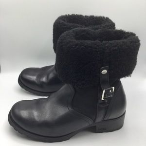 Ugg Bellvue 1914 Leather and Sheepskin Boots